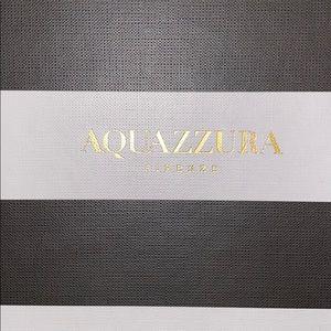 Aquazzura BRAND NEW NEVER WORN lace up flats